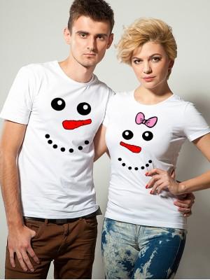 Парные футболки «Снеговики»