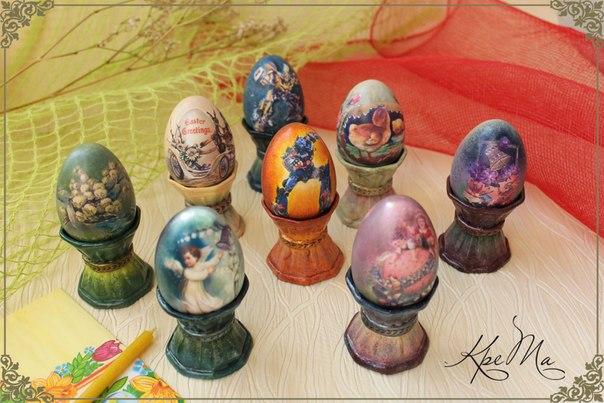Декоративные пасхальные яйца из гипса