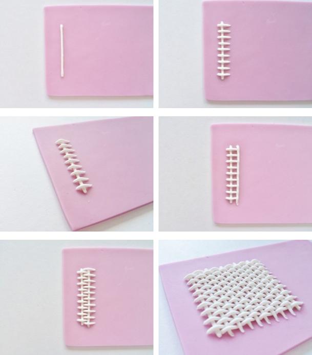 Как сделать плетеный узор из глазури