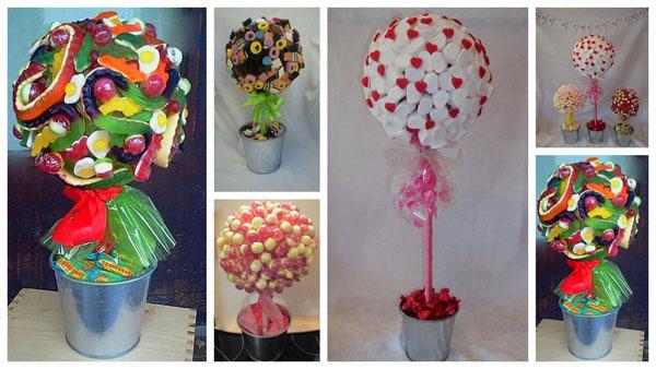Идеи топиариев из конфет
