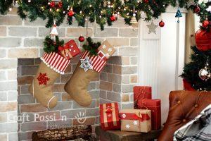 Рождественский чулок из мешковины