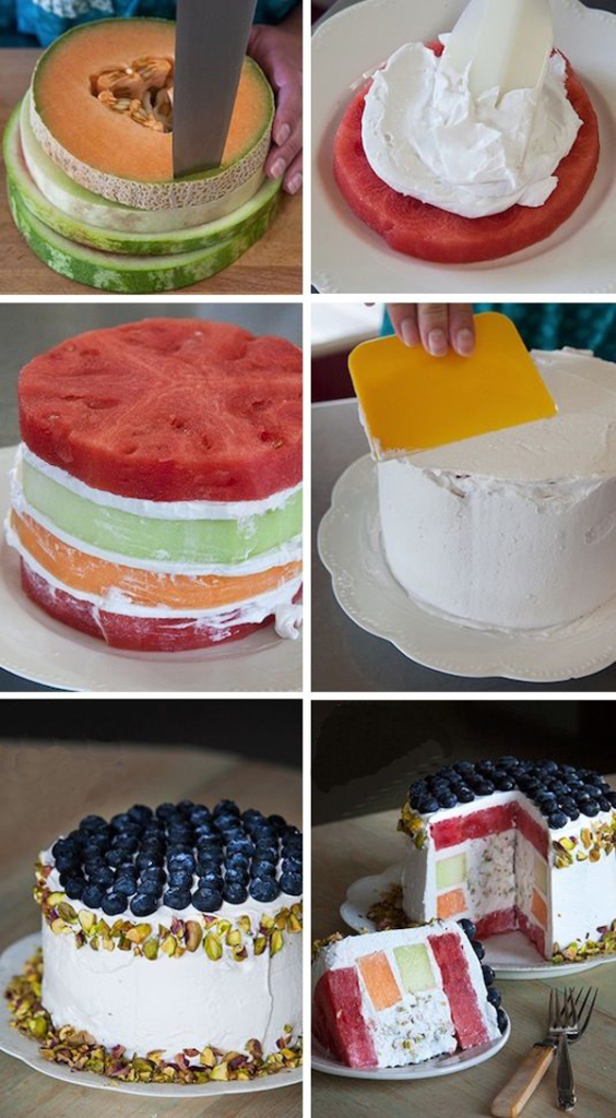 Диетический фруктовый торт