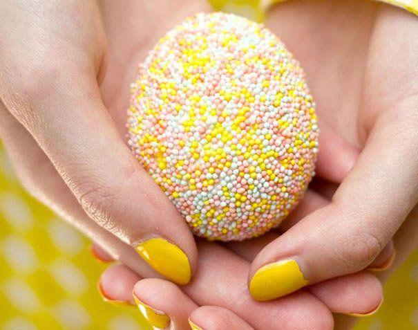 Пасхальные яйца в карамельной крошке