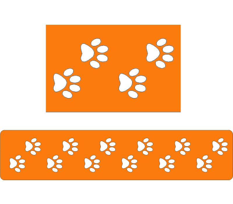 Трафареты со следами собаками для тортов