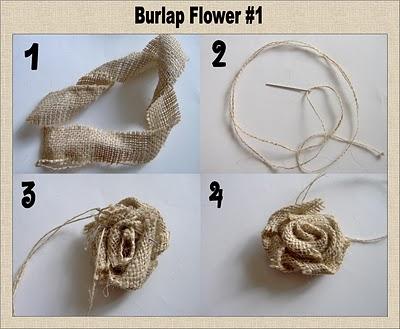 Как сделать розу из мешковины
