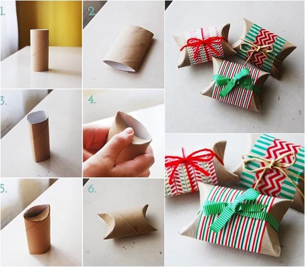Как упаковать подарок в картонный рулон