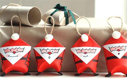 Новогодняя упаковка подарков из картонных рулонов