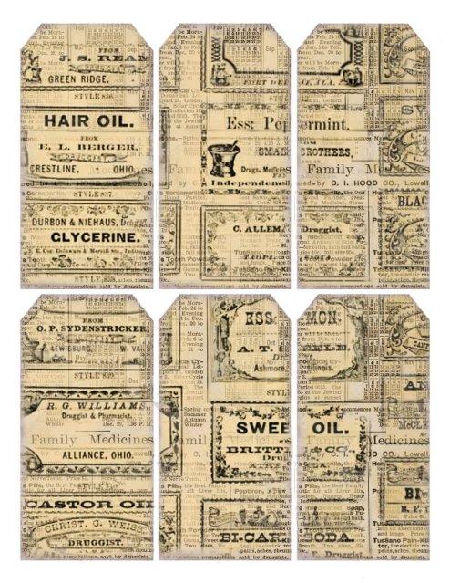 Газетные бирочки