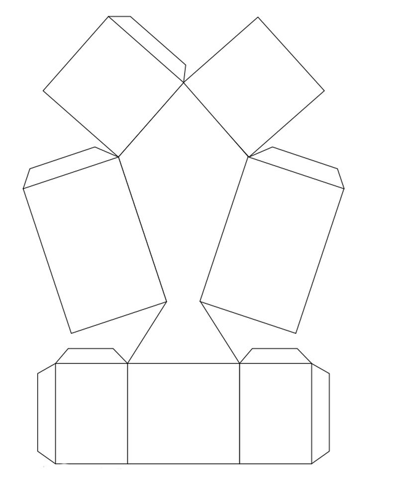 Шаблон коробки в виде галстука