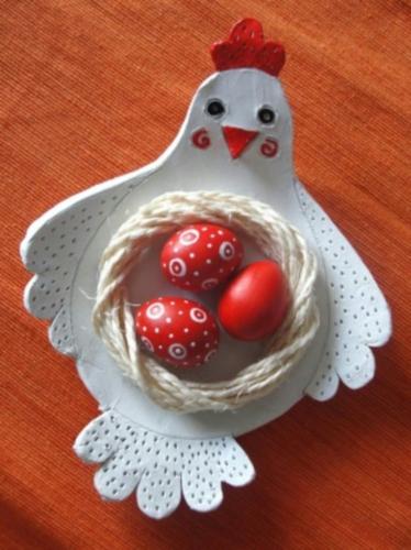 Курочка с гнездом: подставка для яиц
