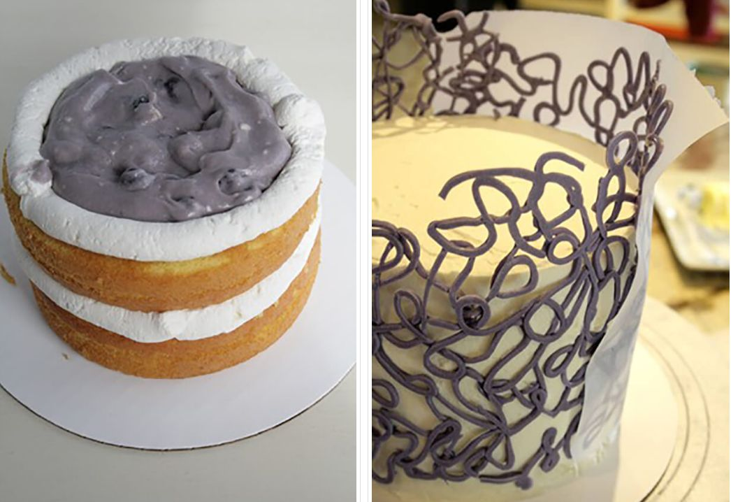 Торт с голубикой МК