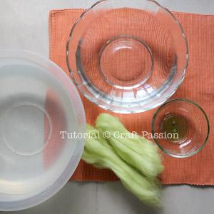 Материалы для декоративных яиц из шерсти