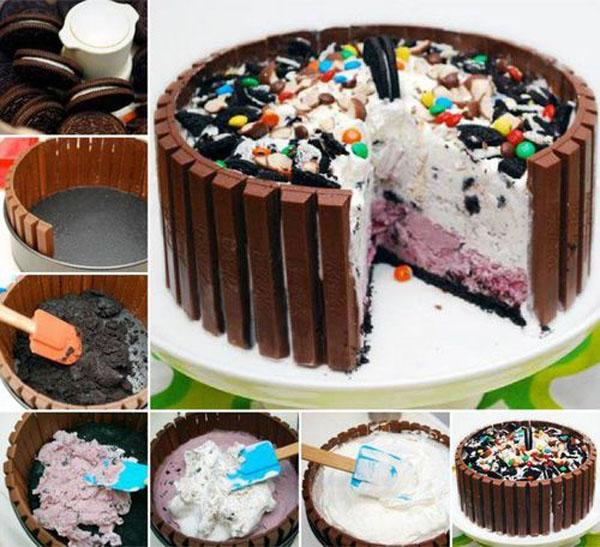 Украшаем торт шоколадом и конфетами