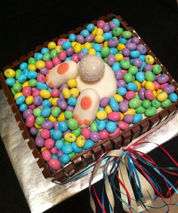 Пасхальный торт с кроликом