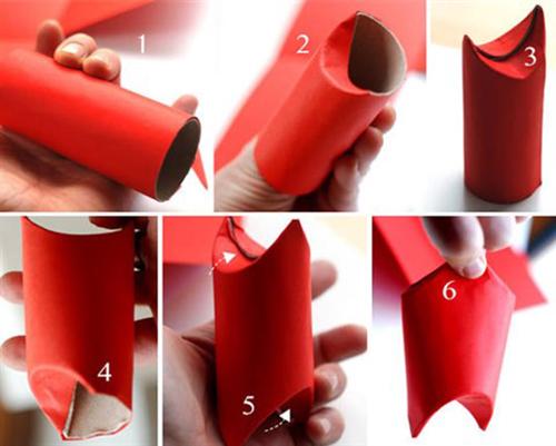 Как сделать санту из картонной втулки