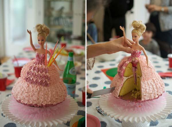 Торт с куклой Барби своими руками