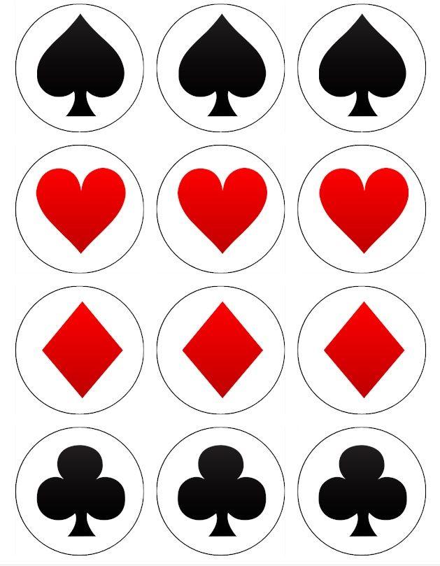 Шаблоны для Дня рождения в стиле казино