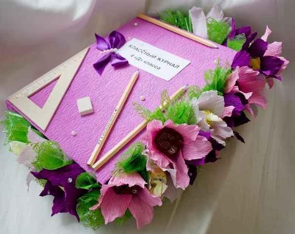 Коробка конфет в виде классного журнала