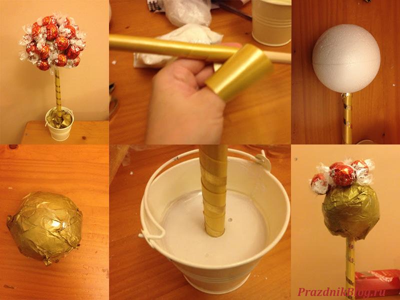 Как сделать дерево из конфет