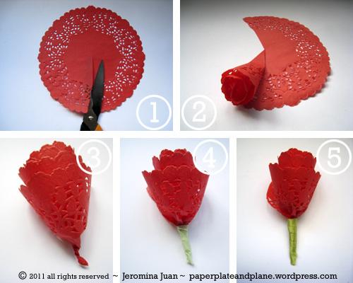 Как сделать розочку из круглых салфеток