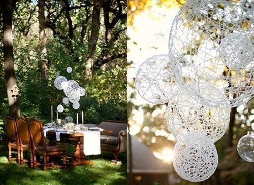 Декоративные шары из ниток своими руками