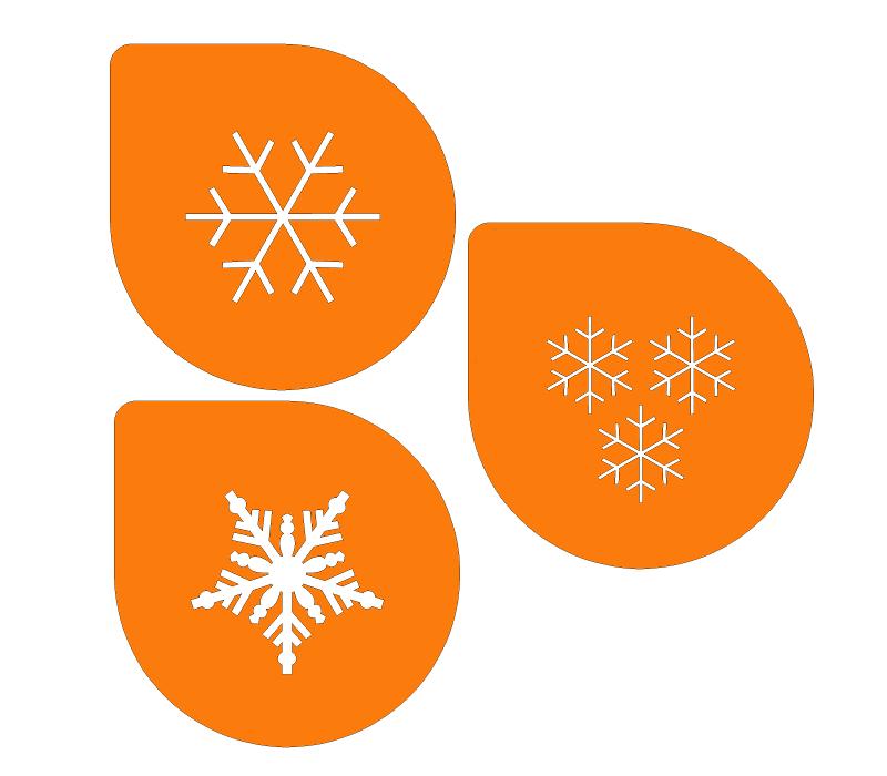 Трафареты со снежинками