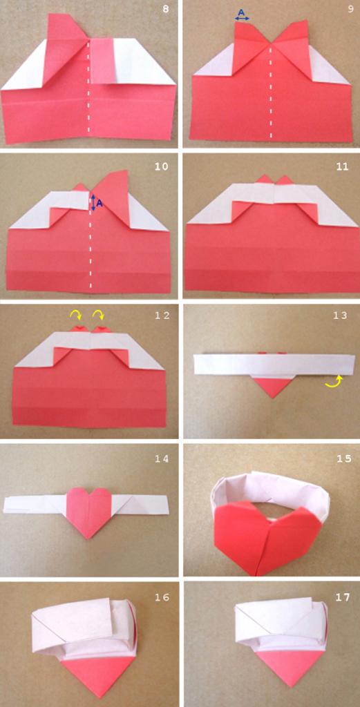 Колечко с сердцем из бумаги