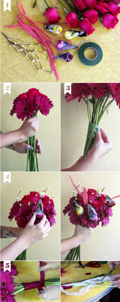 Букет на 1 сентября из живых цветов своими руками