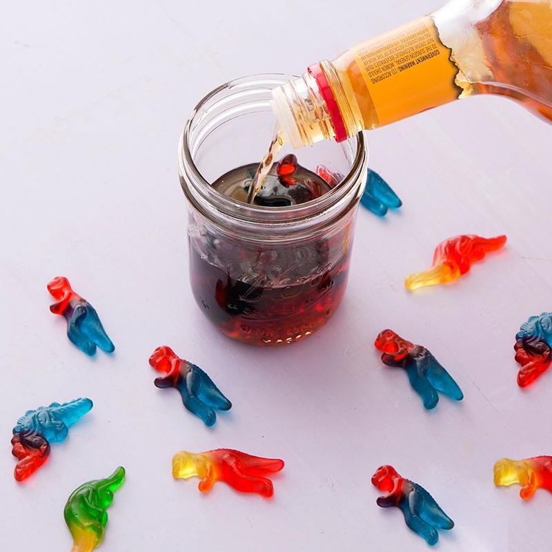 Желатиновые конфеты в виски