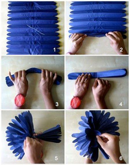 Как сделать помпон из гофрированной бумаги