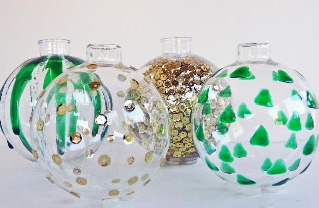 Простая роспись елочных шаров