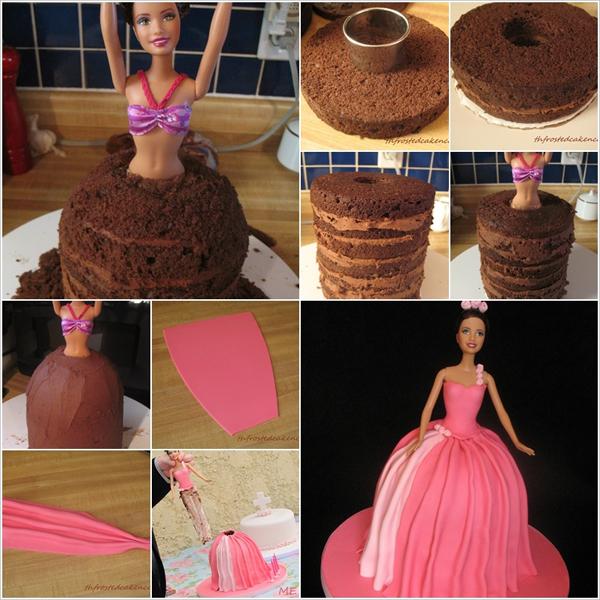 Торт в виде куклы Барби своими руками