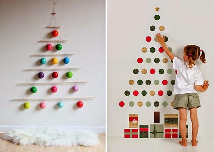 Делаем елку на стену вместе с детьми