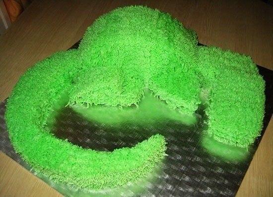Украшение детского торта кремом