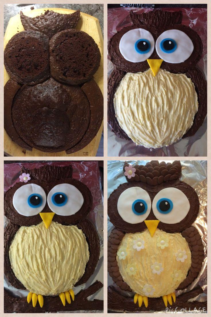 Торт-сова из крема своими руками