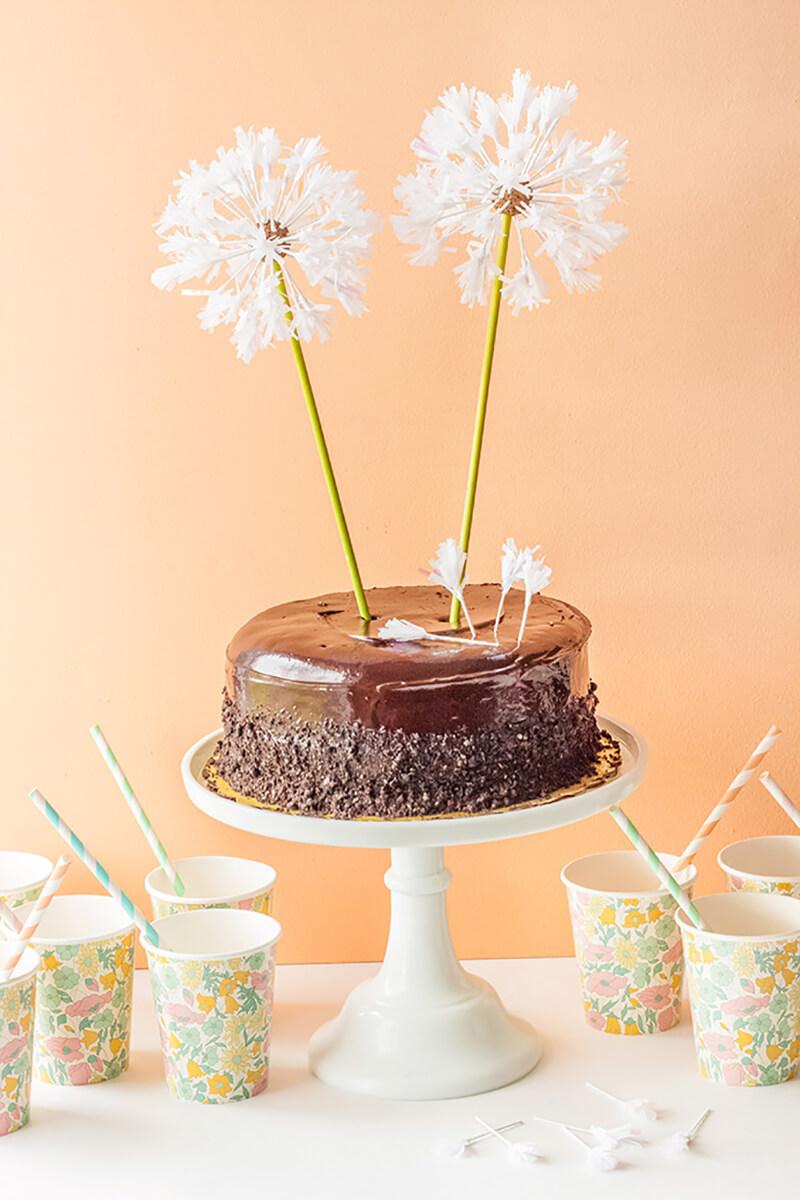 Торт с одуванчиками