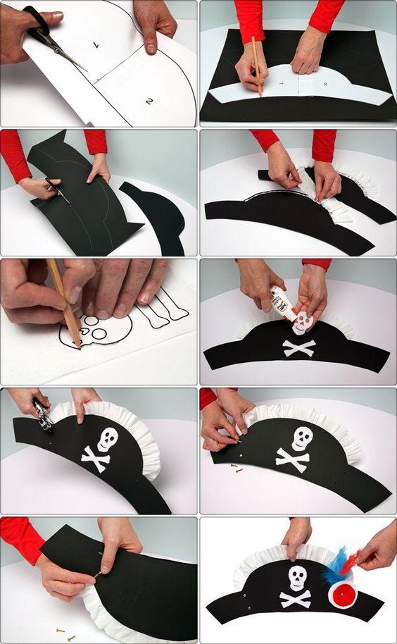Как сделать пиратскую шапку из бумаги