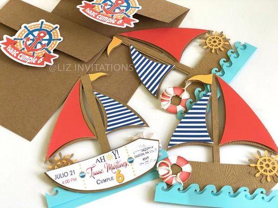 Приглашения на праздник в морском стиле