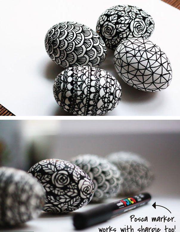 Пасхальные яйца в стиле дудул