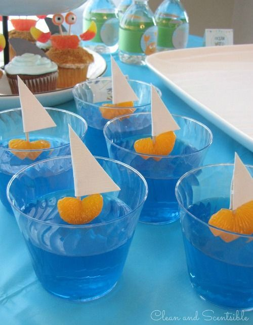 Украшение напитков в морском стиле