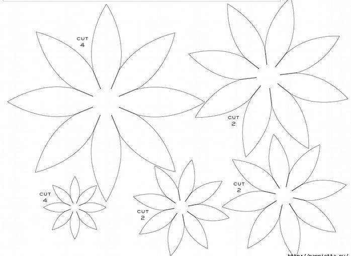 Шаблоны георгинов из бумаги