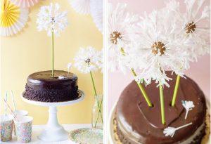 Украшение для торта в виде одуванчиков