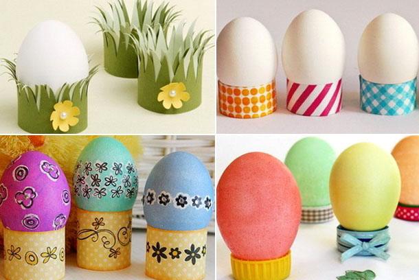 Идеи бумажных подставок для яиц