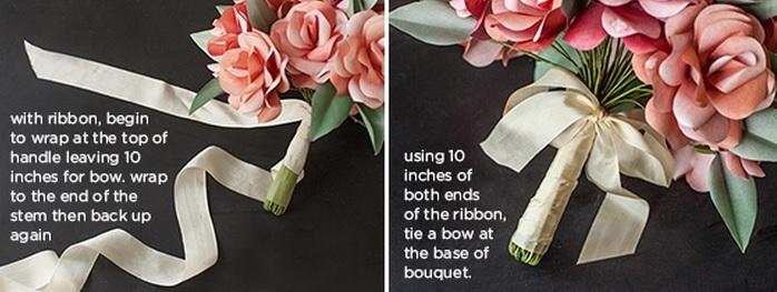 Собираем букет из бумажных роз