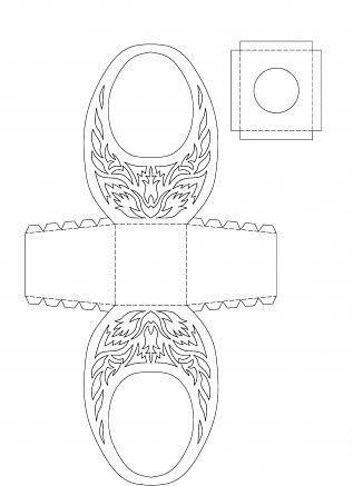 Шаблоны для пасхальных корзинок