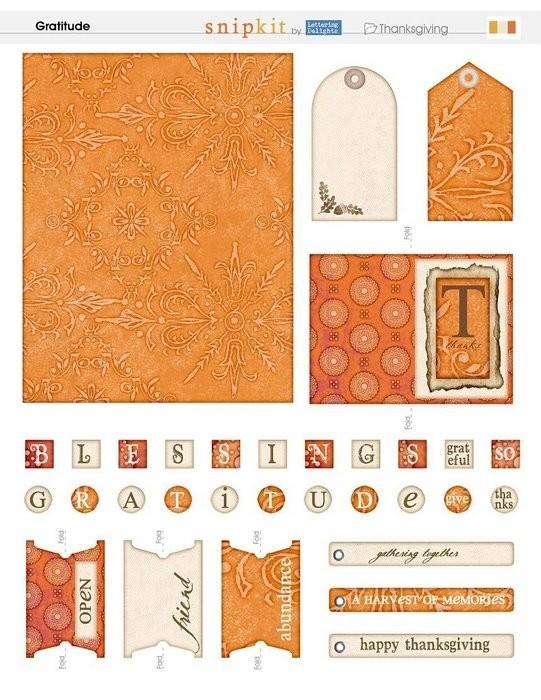 Теги и этикетки в оранжевой гамме