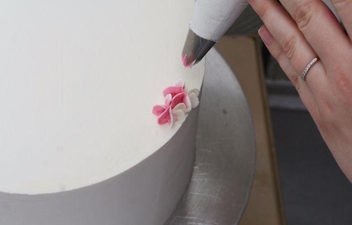 Цветы из крема для украшения торта