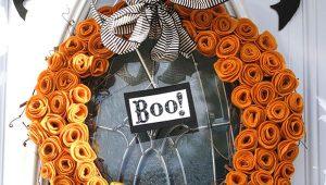 Венки для Хэллоуина своими руками