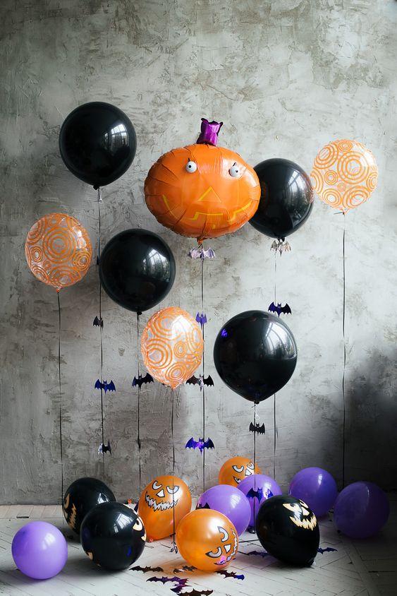 Фольгированные шарики на Хэллоуин