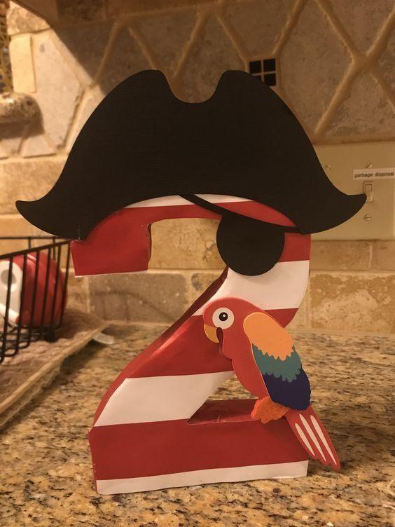 Большая цифра для пиратской вечеринки